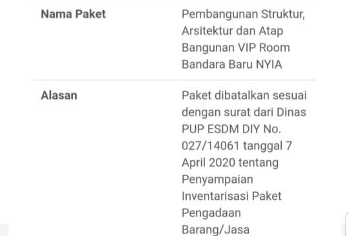Lelang+VIP+Room+Bandara+YIA+dibatalkan